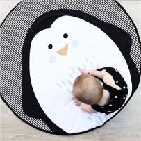 Abreeze Baby Crawling Mat Cute Penguin Play Carpet Children Bedroom Decor Living Room Rug