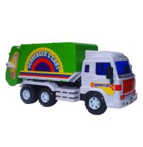 Big Daddy Medium Duty Friction Powered Garbage Truck (Dustbin Lorry) with Easy Collect Spin Flaps & Dump Lever When Full