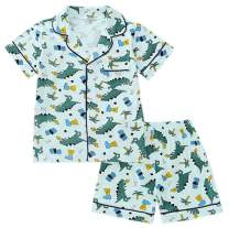 Betusline Kids Boys Girls Cartoon Pajamas Set, 12 Months - 10 Years