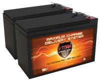 QTY2 VMAX63 12V 10AH AGM SLA Fresh Battery Replace 7Ah UB1270 8Ah UB1280 9Ah UB1290