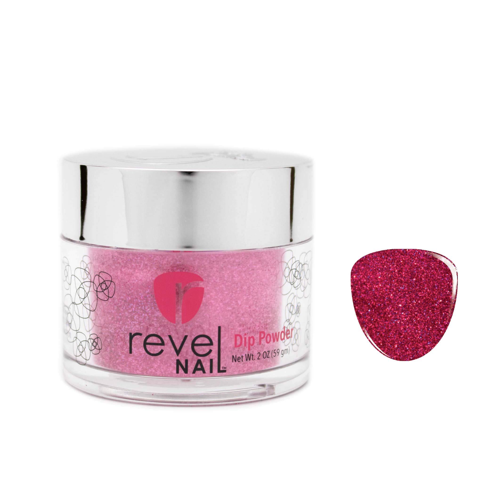 Revel Nail Dip Powder Glitter Colors Miracle 2 Ounces