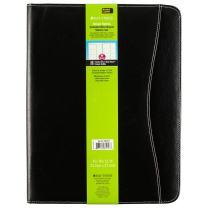 Day-Timer Basque Bonded Leather Starter Set, Undated, Wirebound, Notebook Size, 8.5 x 11 Inches, Black (85457)