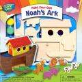 MasterPieces Works of Ahhh Premium Real Wood Acrylic Paint & Craft Kit, Noah's Ark, For Ages 4+