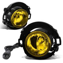 Replacement for 08-15 Xterra/Frontier Pair of Bumper Driving Fog Lights + Wiring Kit + Switch (Amber Lens)
