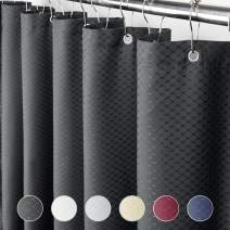 Eforcurtain Small Width Size Thicken Shower Curtain Decorative Waffle Design 36 Inch by 72 Inch, Bath Curtain for Home and Hotels, Charcoal Color