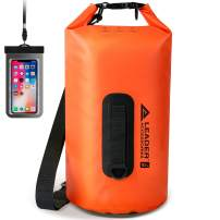 Leader Accessories Heavy Duty Vinyl Waterproof Dry Bag for Boating Kayaking Fishing Rafting Swimming Floating and Camping
