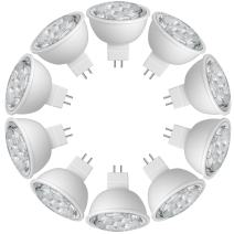 SUNTHIN Pack of 10 MR16 LED 6.5 Watt 2700K Warm White 500lm 60 Watt Replacement Spot Light Bulb UL Listed MR16 LED Bulbs MR16 Non Dimmable