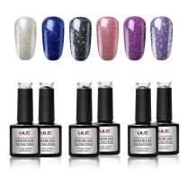 Glitter Charming Gel Polish Set ULG Shiny Glamorous Nail Art Kit 10ml