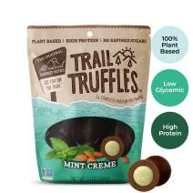 Trail Truffles – Vegan, Dark Chocolate Superfood Protein Balls – Healthy, Plant Based, Gluten Free, Dairy Free, Soy Free, Non-GMO Snacks (Mint Crème, 1 Pack)