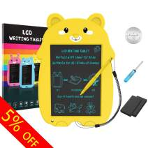 COMPONALL LCD Writing Tablet, Cartoon Bear Portable Reusable Erasable Writing Board Doodle Board, Electronic Doodle Pads Drawing Board Gift for Kids and Adults at Home,School and Office(Yellow)