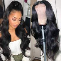 Human Hair Lace Front Wigs 4x4 Lace Front Wigs Human Hair Pre Plucked 26 inch,Aomllute Brazilian Lace Front Wigs Human Hair Pre Plucked 150% Density Body Wave Human Hair Wigs Natural Color