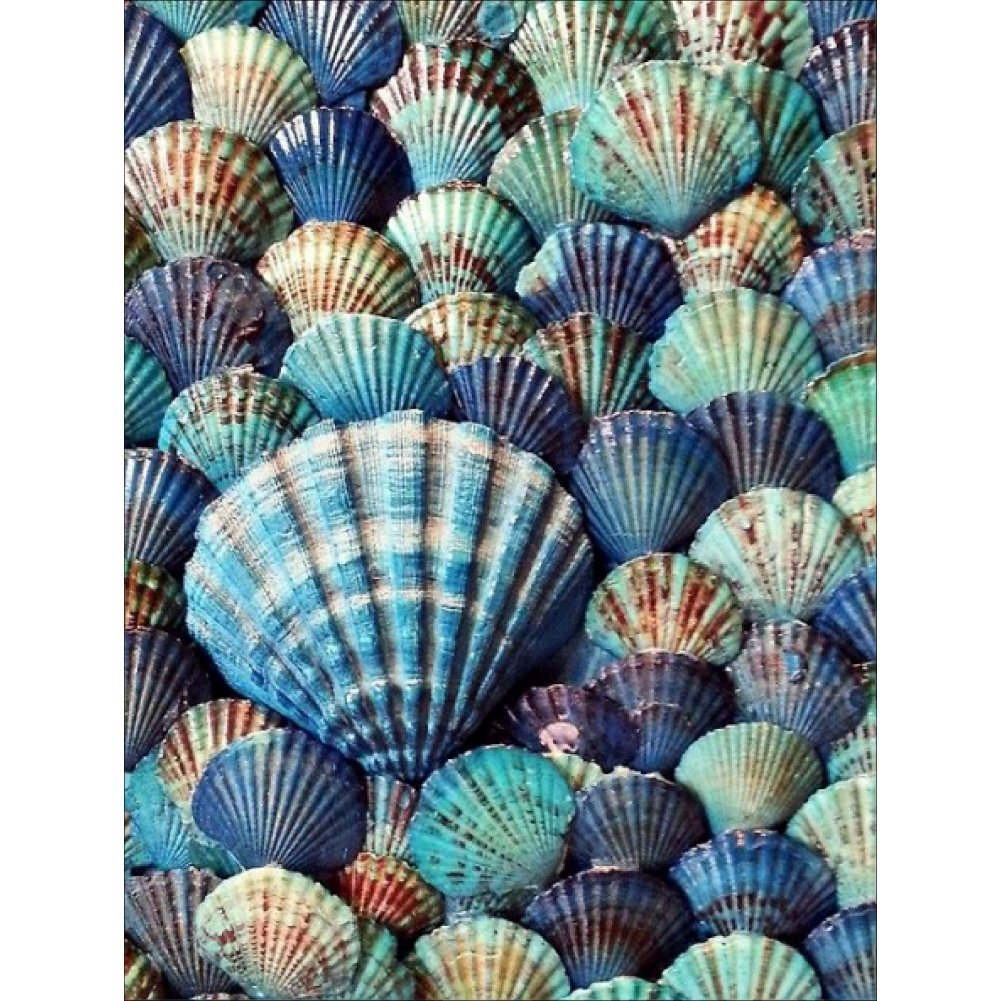 Norbi Painting with Diamonds Seashells Embroidery Diamond by Number Kits Rhinestone Painting Cross Stitch Kit Wall Art Decor for Kids Adult Beginner