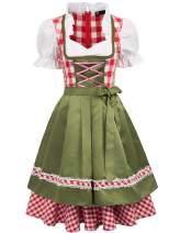 Women's German Dirndl Dress Bavarian Oktoberfest Costumes for Halloween Carnival