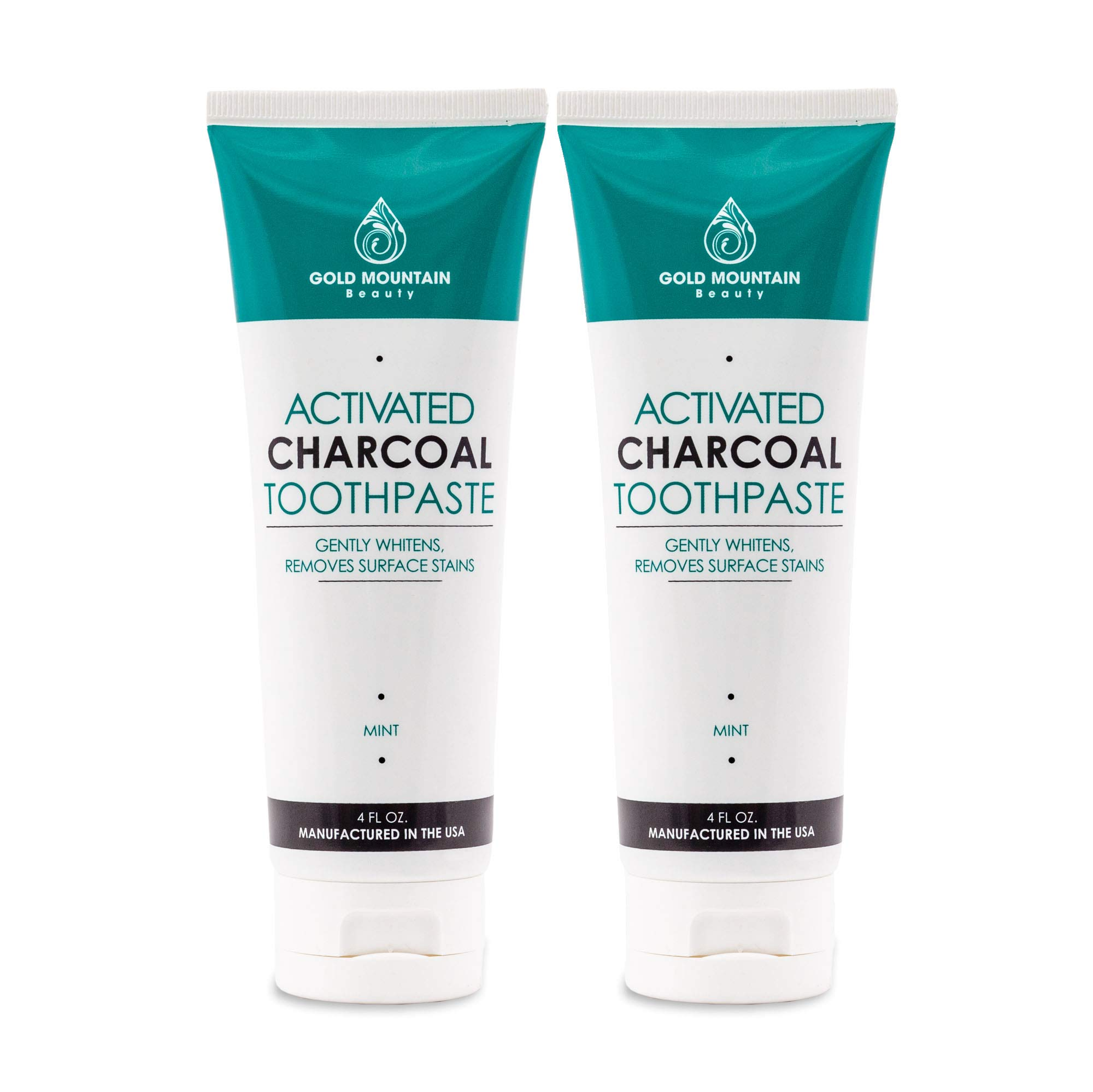 Activated Coconut Charcoal Teeth-Whitening Toothpaste, All-Natural (2-pack)