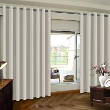 Sliding Door Curtain Drapes Extra Wide Solid Panel, 8.3ft Wide x 8ft Tall Room Divider Grommet Top Privacy Curtains Window Dressing for Living Room / Patio Door, Cream,(100inch W x 96inch L), 1 Panel