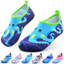 Sunnywoo Water Shoes for Kids Girls Boys,Toddler Kids Swim Water Shoes Quick Dry Non-Slip Water Skin Barefoot Sports Shoes AquaSocks for Beach Outdoor Sports
