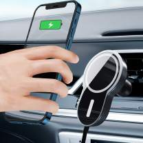 Magnetic Phone Car Mount15w,Wireless Car Charger Compatible for Various Mobile Phones with QI Wireless Charging Function(iPhone 12,Samsung Note 20 etc. Women/Man Phone Holder car Charger Accessories