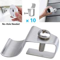 No-Hole Needed Vinyl Siding Clips Hooks Compatible with Arlo Pro 2, Arlo Ultra 4K, Arlo Pro, Arlo Pro 3 – Outdoor Cam Accessories for Mounting Wireless Home Security Camera Systems (10 Pack)