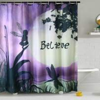 """Shower Curtain Liner Purple Dragonfly Fabric Water Resistant Bath Curtains with 12 Hooks for Bathroom Home Decorations (Style 2, 72"""" W×72"""" L)"""