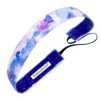 Sweaty Bands Womens Girls Headband - Non-Slip Velvet-Lined Exercise Hairband - Serenity Lavender
