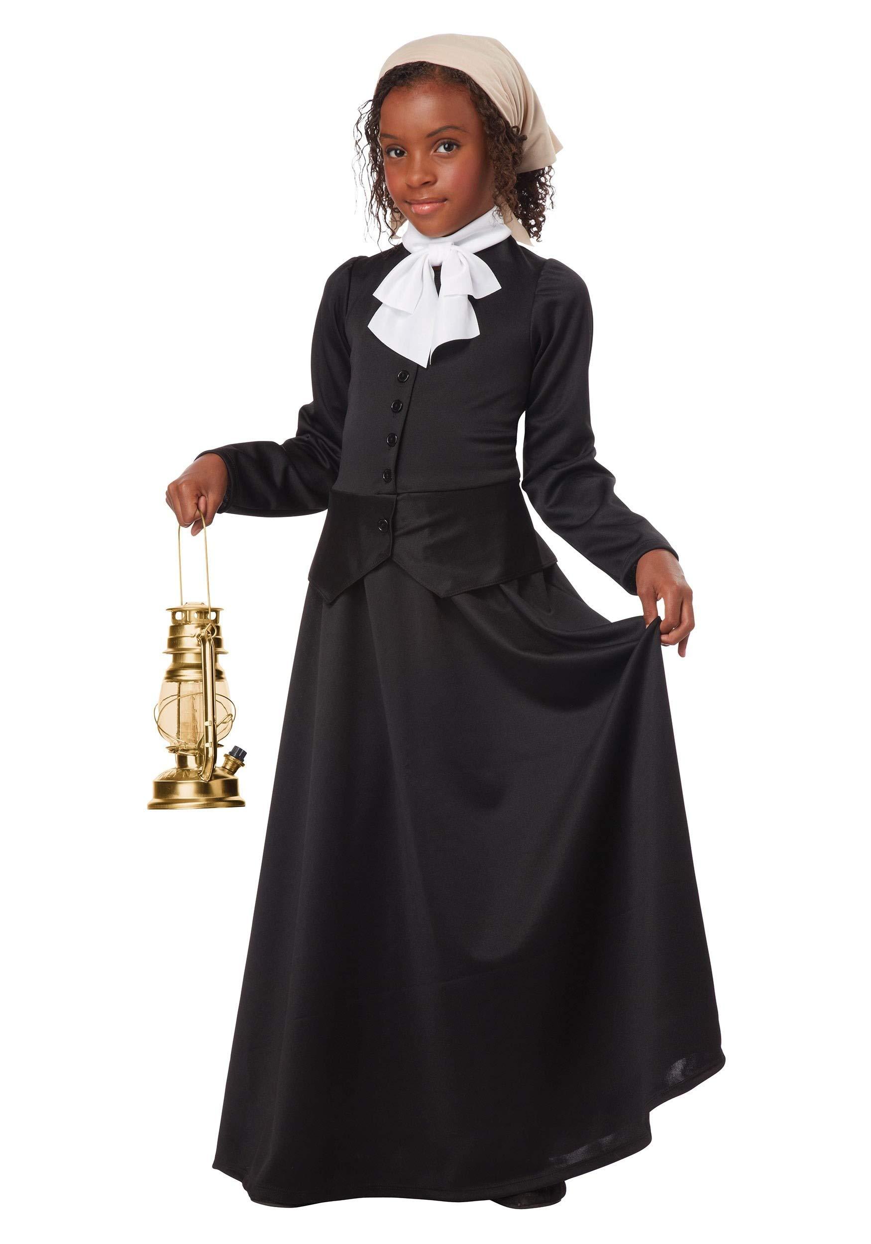 Girl's Harriet Tubman Costume Small Black