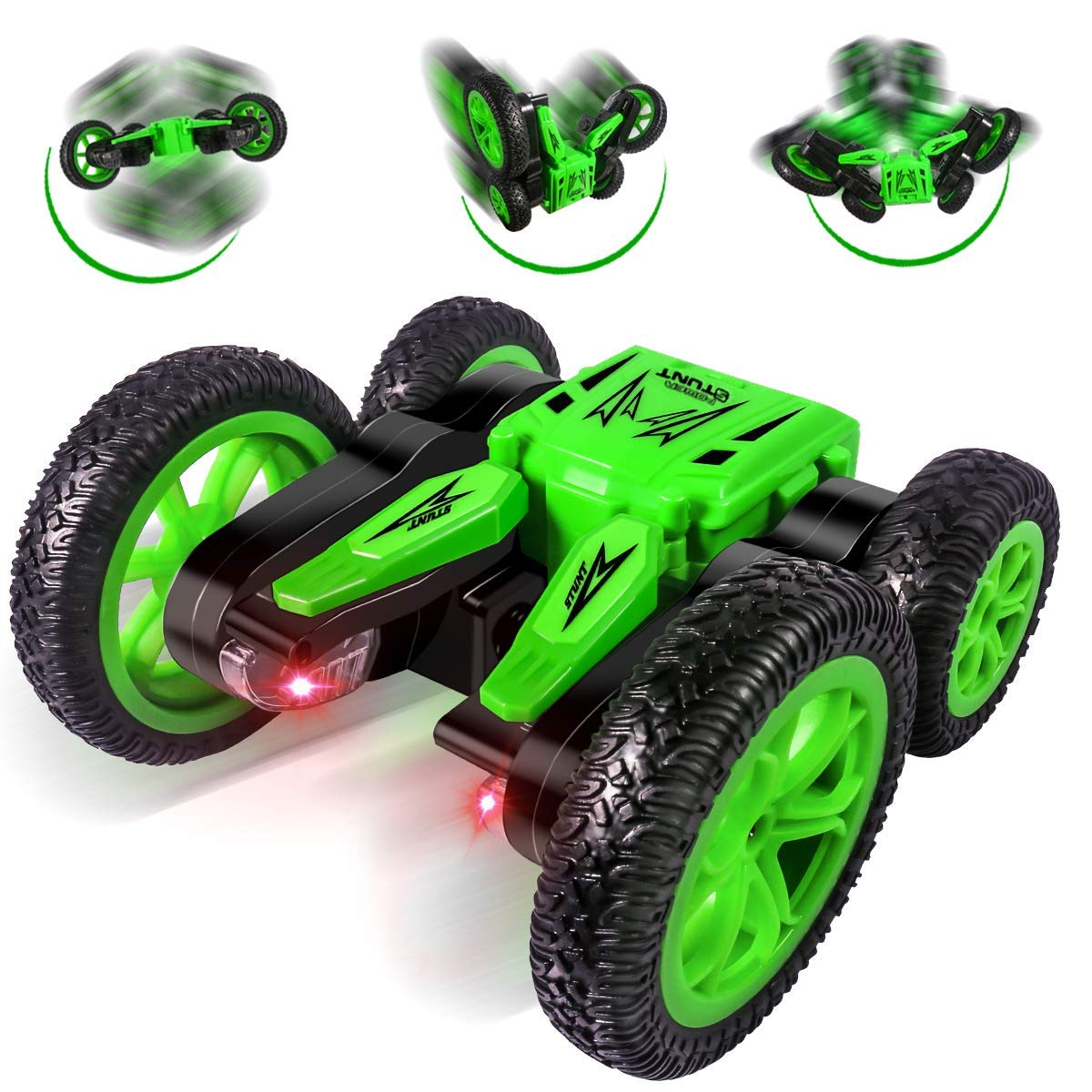 Remote Control Car, Durable RC Stunt Cars Toys for Kids, RC Cars 4WD 2.4GHz Stunt Car Double Sided 360° Flips with Dual-Color Headlights for Kids Xmas Toy Cars for Boys/Girls