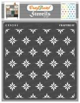 CrafTreat Daisy Stencils for Painting on Wood, Canvas, Paper, Fabric, Floor, Wall and Tile - Doting Daisies - 6x6 Inches - Reusable DIY Art and Craft Stencils - Large Daisy Stencil