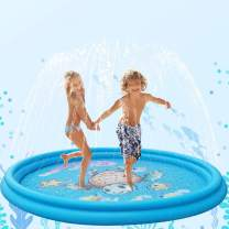 Inflatable Splash Pad, Baby Swimming Pool, Sprinkle and Splash Play Mat for Kids Toddlers Dogs, Outdoor Water Mat Toys, Baby Infant Wading Swimming Pool