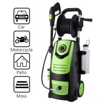Suyncll Electric Pressure Washer High Power Washer with Reel,3800PSI 2.8GPM Pressure Washer Car Patio Garden Yard Cleaner (Green)