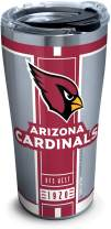 Tervis 1317565 NFL Arizona Cardinals Blitz Stainless Steel Insulated Tumbler with Clear and Black Hammer Lid, 20 oz, Silver