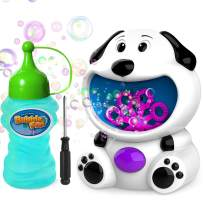 WisToyz Bubble Machine Dog Bubble Blower 500+ Bubbles Per Minute, Bubble Machine for Kids Toddlers Boys Girls Baby Bath Toys Indoor Outdoor Automatic Bubble Maker Easy to Use 2 AA Batteries Needed