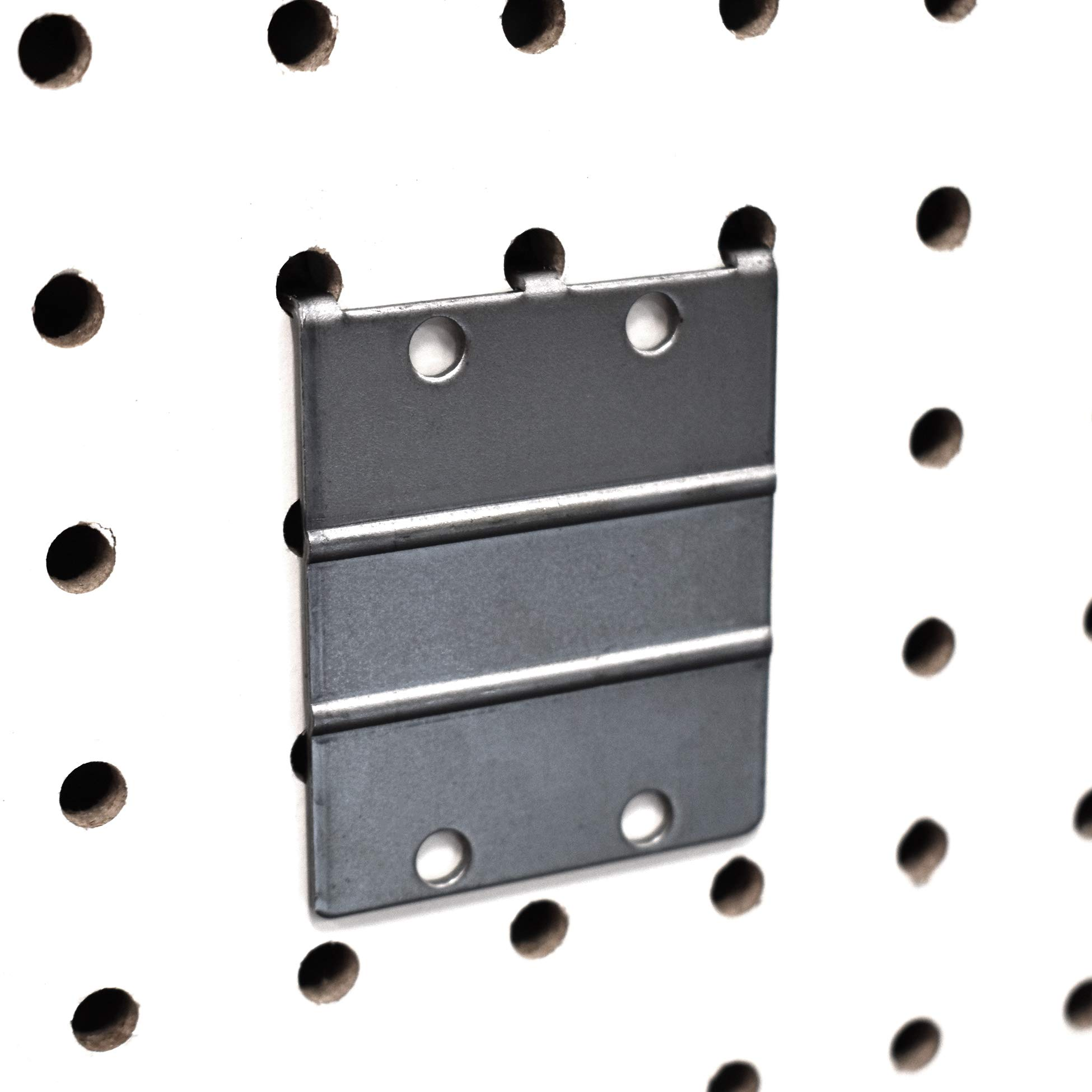 Pegboard Metal Plate Mount, Backplate Mounting Adapter to Make Items Pegboard Compatible, 5 Pack