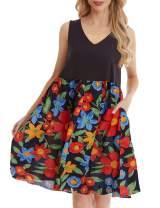 YESNO JEL Women Casual Loose Summer Slip Dresses Beach Cover up Plain Night Sleep Dress XS-5X JEL