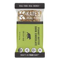 Kate's Real Food Granola Bars 6 Pack | Grizzly Bar Peanut Butter and Dark Chocolate | Clean Energy, Organic Ingredients, Gluten Free, Non GMO | All Natural Delicious Health Snack