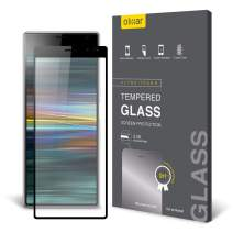 Olixar for Sony Xperia 10 Plus Screen Protector - Glass Screen Protector - Full Coverage - Tempered Glass - 9H Rated - Shock Protection - Easy Application, Card and Cleaning Cloth Included - Black