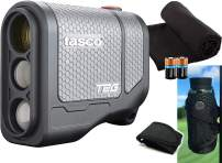 Tasco Tee-2-Green (Standard Version) Golf Laser Rangefinder PlayBetter Pack | 5X Mag, 1 Yard Accuracy, Scan Mode, (+Cart Mount, Microfiber Towel, Two CR2 Batteries)