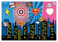 WOLADA 7x5 Mask Superhero Backdrop for Pictures Baby Shower Photography Backdrop Birthday Photography Background Super Hero Party Decorations Backdrops Fond Studio Props 11394