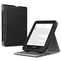 TiMOVO Case Compatible for Kindle Paperwhite E-Reader (10th Generation, 2018 Release) - Vertical Multi-Viewing Flip Stand Cover with Auto Sleep/Wake Fit Amazon Kindle Paperwhite, Black