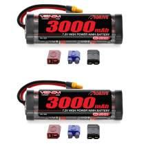 Venom 7.2V 3000mAh 6-Cell NiMH Battery with Universal Plug (EC3/Deans/Traxxas/Tamiya) x2 Packs