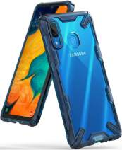 """Ringke Fusion-X Designed for Galaxy A30 Case, Galaxy A20 Case Cover (6.4"""") - Space Blue"""