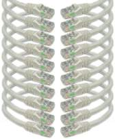 iMBAPrice 50 ' Cat5e Network Ethernet Patch Cable, 10 Pack, White (IMBA-CAT5-50WT-10PK)