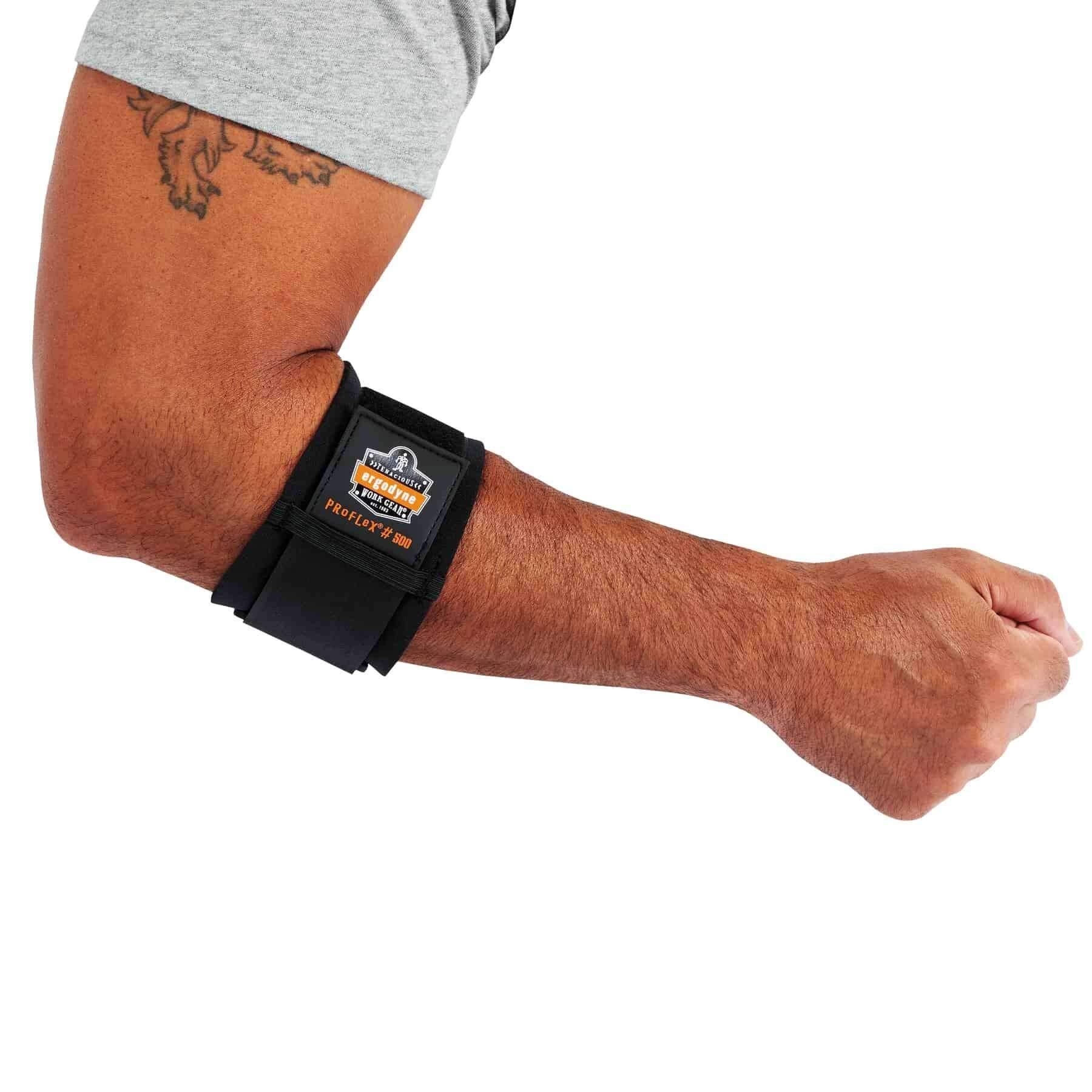 Ergodyne ProFlex 500 Elbow Support, X-Small, Black