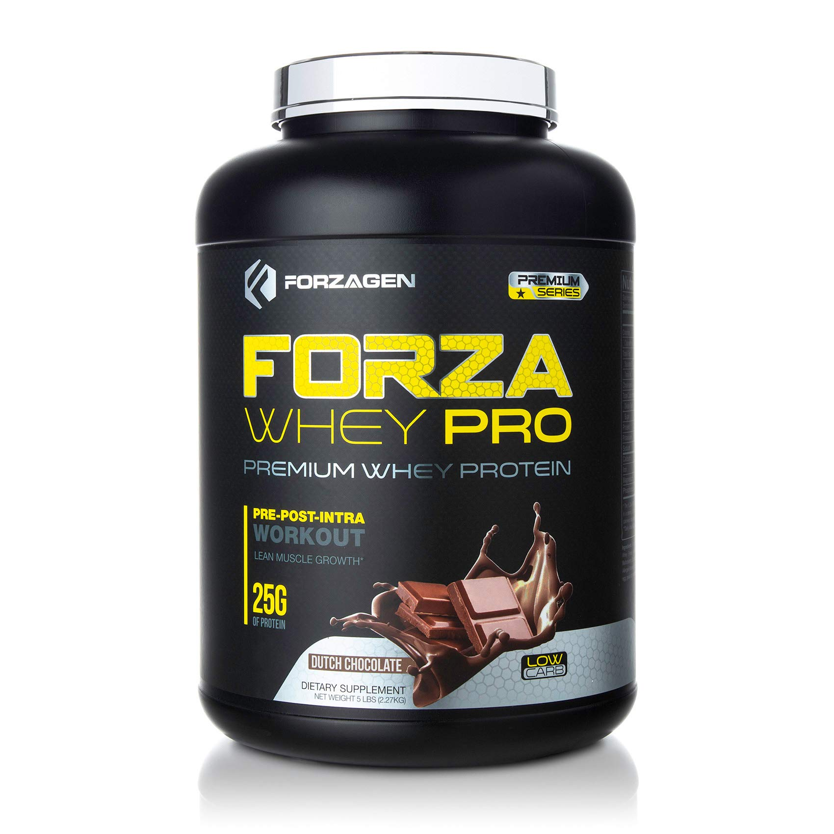 Forzagen Protein Powder 5lb - Best Whey Protein | Weight Gainer | Increase Muscle Mass | Meal Replacement Shakes | Low Carb Protein Powder | Pre Workout and Post Workout Dutch Chocolate