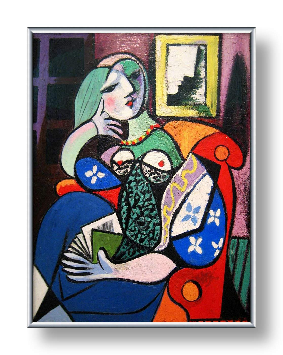 """Alonline Art - Woman With Book by Pablo Picasso 