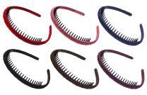 STHUAHE Woman 6PC Multicolor Protection Resin Teeth Comb Hair Hoop Hairband Headband Hair Accessories by Beauty hair (6 Color)