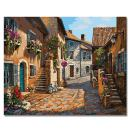 Rihe Paint by Numbers Kits DIY Oil Painting for Adults Kids Beginner - European Town 16 x 20 inch with Brushes and Acrylic Pigment (Without Frame)