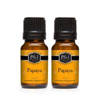 Papaya Fragrance Oil - Premium Grade Scented Oil - 10ml - 2-Pack