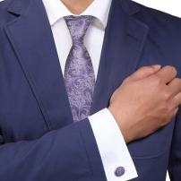 Y&G Men's Fashion Multicolored Patterns Neckwear with Presents Box Silk Tie Cufflinks Set 2PT