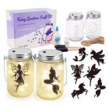 Fairy Lantern Craft Kit, Decorative Hanging Mason Jar with String Lights, Arts and Crafts Ideas for Girls, Best Creative Activities for Birthday Party and School
