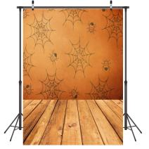 LYWYGG Spider Web Backdrop Cobweb Photography Background 5X7ft Polyester Spider Cobweb Cartoon Children's Photography Backdrop Collapsible and Studio Photo Props for Photography CP-54